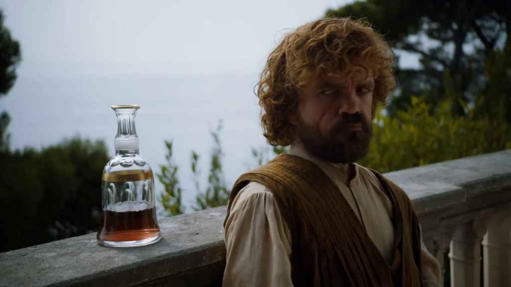 game of thrones s5e1 tyrion and wine