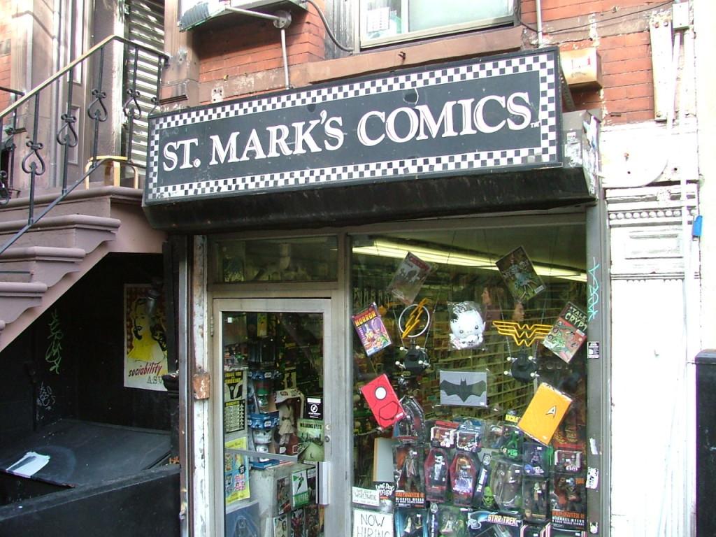 st marks comics storefront