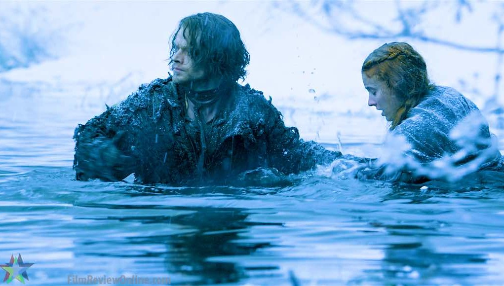 game of thrones s6e1 theon and sansa go swimming